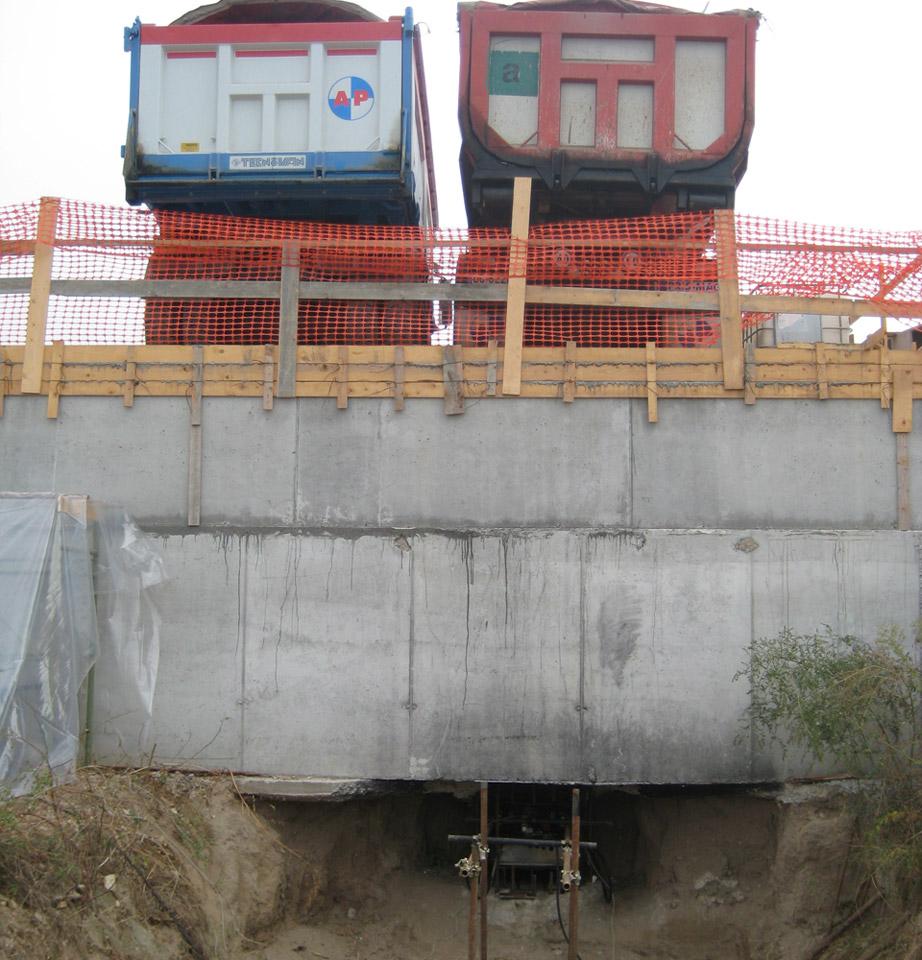 prove di carico su pali autostrada