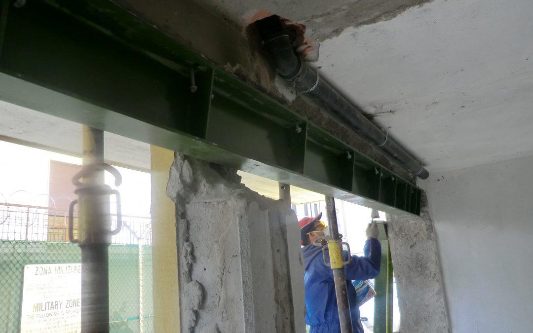 Intervento di rinforzo strutturale per eliminazione pilastro