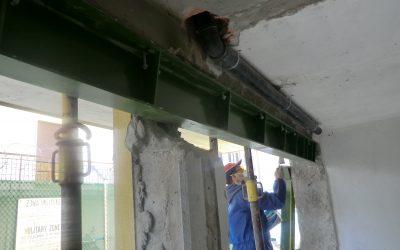 Rinforzo strutturale per eliminazione pilastro