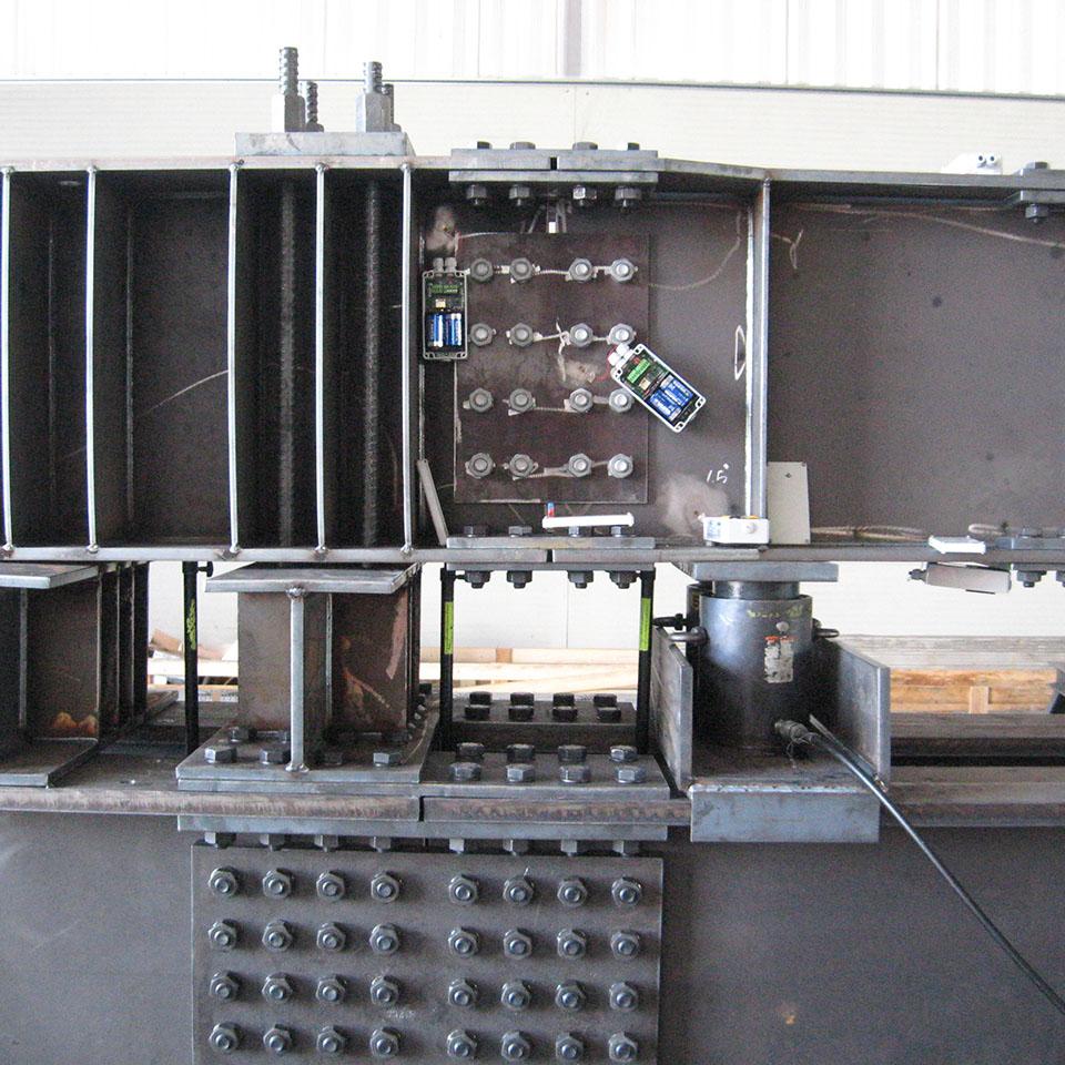 Monitoraggio tramite strain gauges
